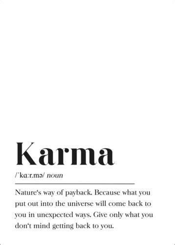 Definición de karma (inglés) de Pulse of Art | Posterlounge.es