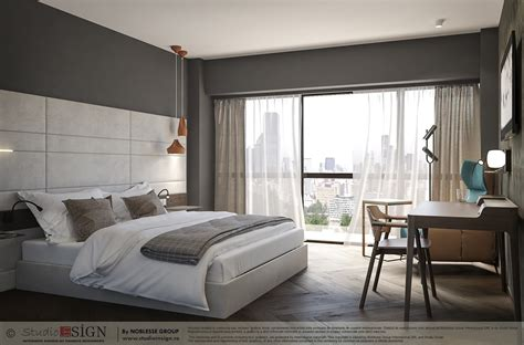 star hotel room modern interior design concept studio