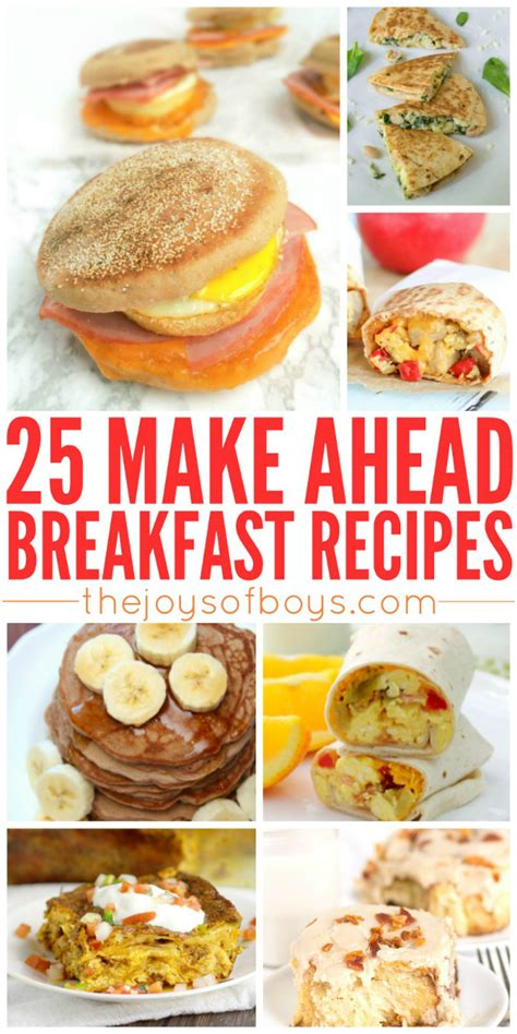 make ahead food gift 25 make ahead breakfast recipes for busy mornings