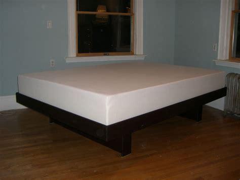 custom made beds custom walnut floating platform bed by landberg designs