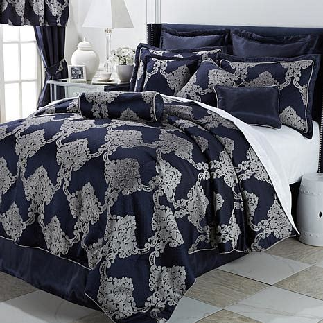 20 piece bedding set highgate manor versailles 20 piece comforter set navy