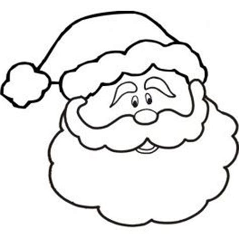 printable santa face template santa face printable pinterest
