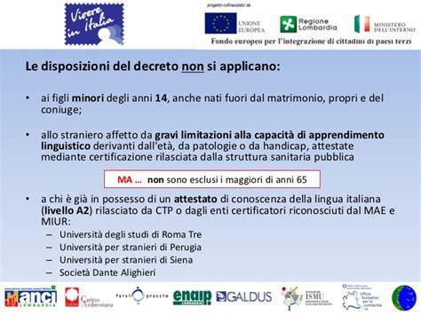 www testitaliano interno it modulo di domanda slide vivere incontri con associazioni di migranti