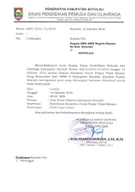 info sma smk kabupaten boyolali undangan koordinasi beasiswa untuk