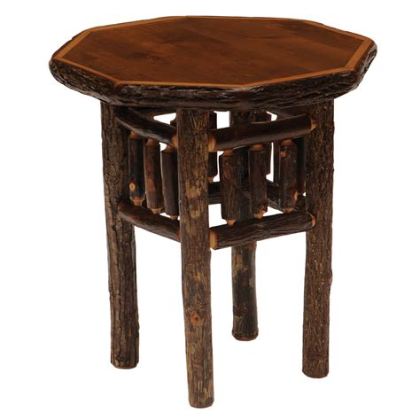 octagon table hickory octagon end table