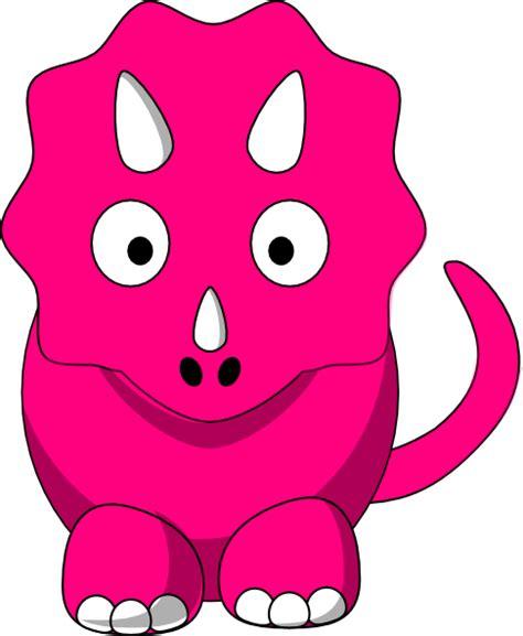 big pink triceratop clip art  clkercom vector clip