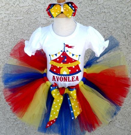 carnival themed birthday outfits baby girls circus tent birthday tutu outfit set baby s