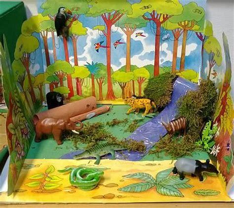printable forest diorama ks2 rainforest model google search dioramas