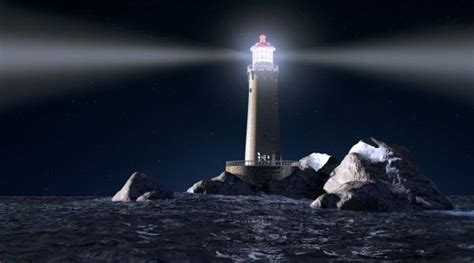 lighthouse   night hd wallpaper nicehdwall