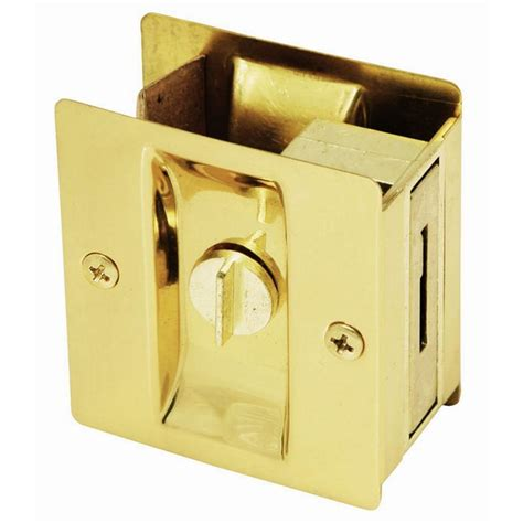 home design door locks design house polished brass pocket door privacy hardware 202838 the home depot
