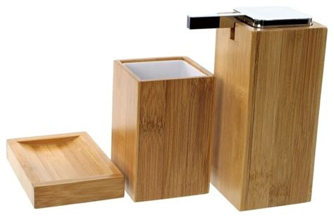 bamboo bathroom set why should you opt for bamboo bathroom accessories bath