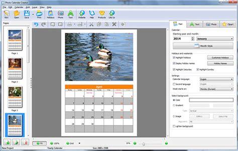 calendar design free software photo calendar creator pro graphic design software 35 pc