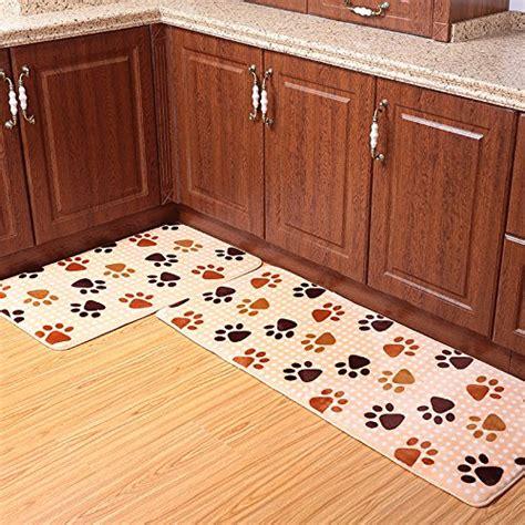 ustide  piece dog foot print kitchen rug set cute memory