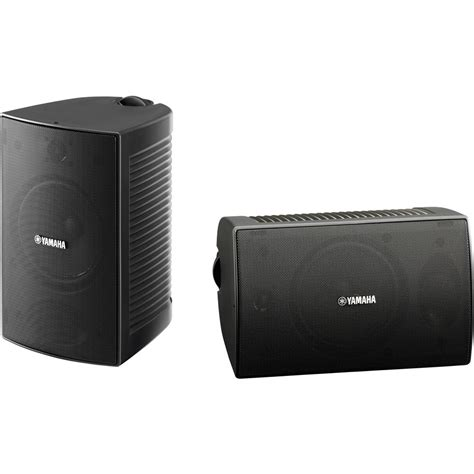 yamaha high performance outdoor speaker pair black