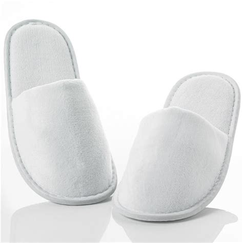 hotel slippers luxury velour spa slippers with closed toe out of