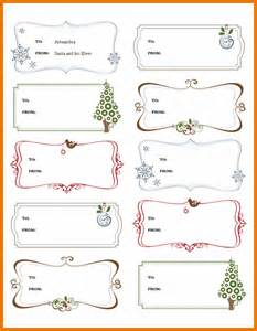 Label Template On Word by Label Template Word Gift Labels Template For