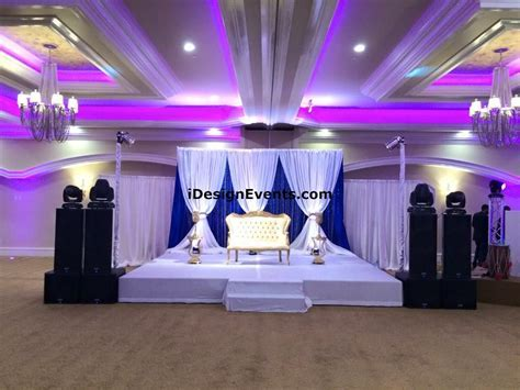 Royal Blue & Gold Wedding Decor Ideas   Indian Backdrop Design