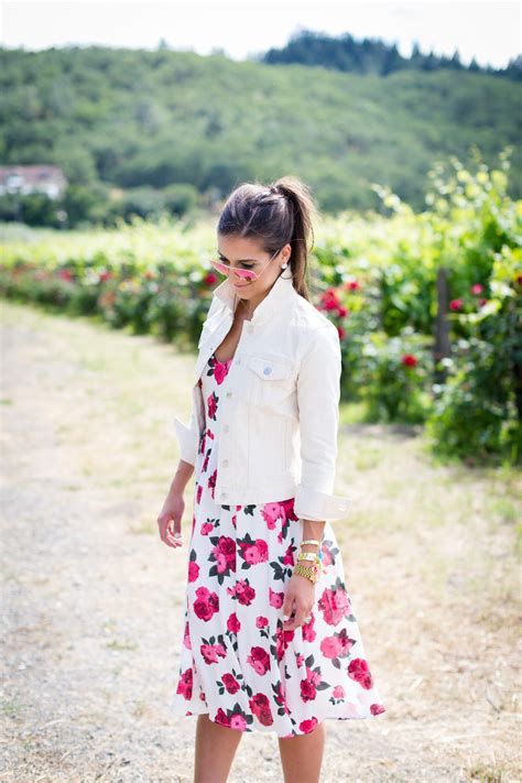 travelling fashion look fantastic in floral denim rose printed midi dress a southern drawl