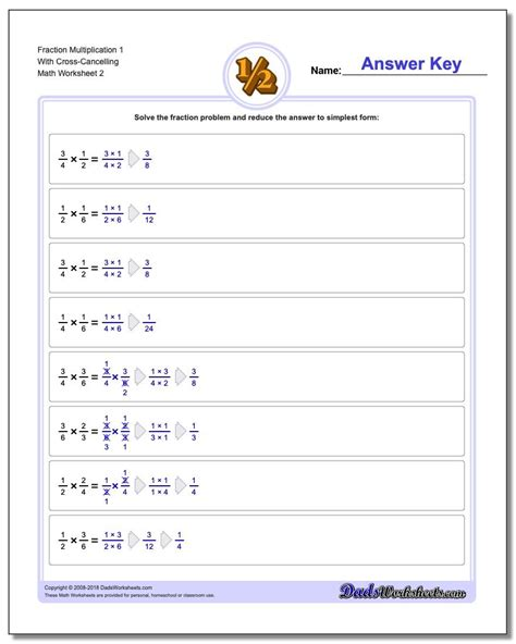 multiplication  cross cancelling