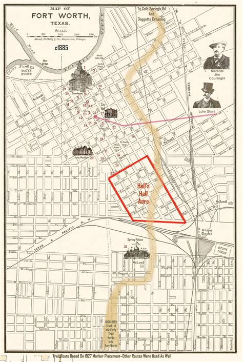 map of fort worth hell s half acre fort worth the handbook of