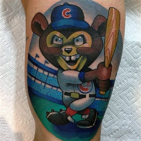 new school tattoo chicago 80 chicago cubs tattoo designs for men baseball ideas