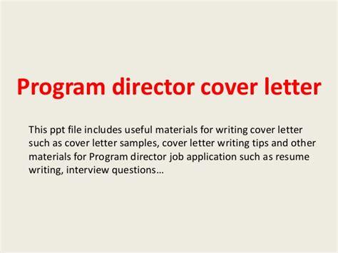 cover letter for program director program director cover letter