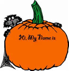 free happy halloween name tags halloween party nametags