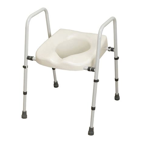 commode toilet seat chair frame mowbray lite toilet frame seat width adjustable nrs