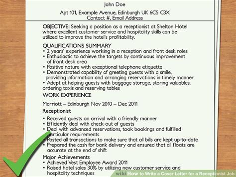 what should be said in a cover letter how to write a cover letter for a receptionist 12 steps