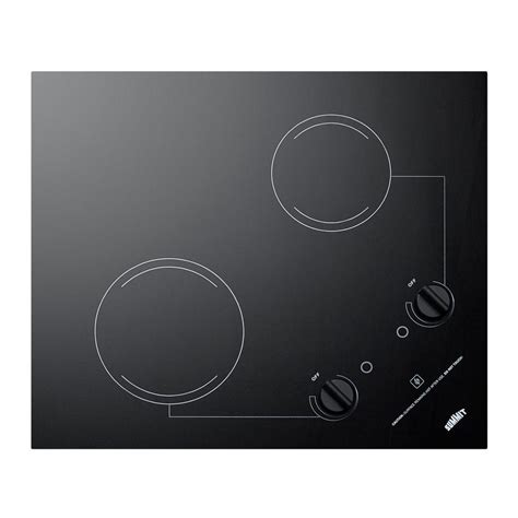 Radiant Cooktop Summit 21 In Radiant Electric Cooktop In Black With 2