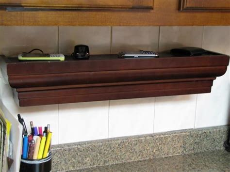 charging station shelf remodelaholic get rid of cord clutter with these 25 diy