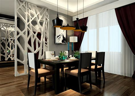 Dining Room Partition Design by Dining Room Curtains And Partition Design