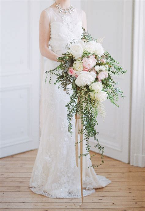 Big Wedding Bouquets by A Big Floral Trend Cascading Bouquets Onefabday