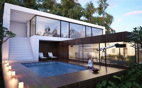 models houses villas villa   forest