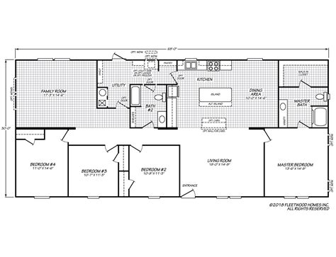 fleetwood homes floor plans sandalwood xl 32684x fleetwood homes