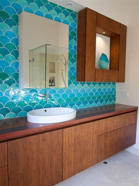 fish tiles bathroom fish scale tile bathroom houzz com house to home