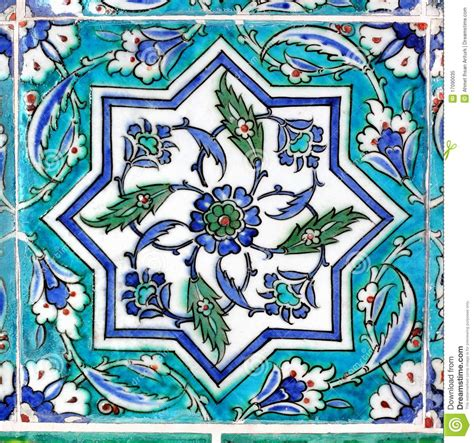 Ottoman Tiles Ottoman Tile In Turquoise Royalty Free Stock Photo Image
