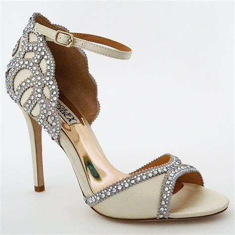 wedding shoes badgley mischka badgley mischka ivory wedding shoes bridal sandals