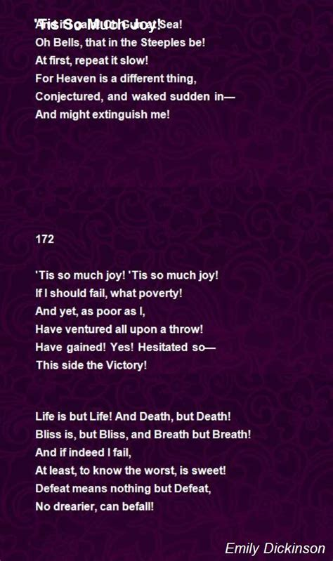 emily dickinson poetry biography tis so much joy poem by emily dickinson poem hunter