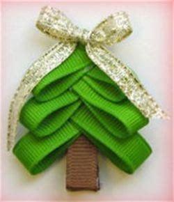 christmas tree hair bow tutorial bows 3 ribbon