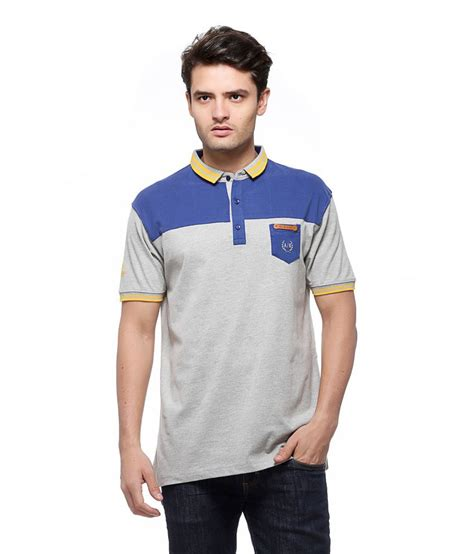 rugged t shirts all rugged gray cotton polo t shirt buy all rugged gray cotton polo t shirt at low