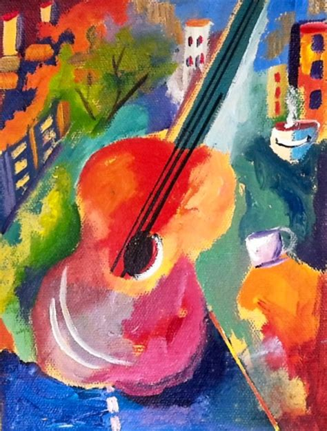 acrylic painting cook how to paint an abstract guitar with vibrant colors