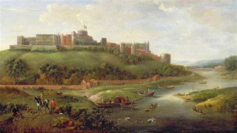 Nature Duvet Cover Windsor Castle Painting By Hendrick Danckerts