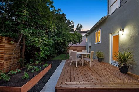 Zillow Backyard Ideas Deck With Exterior Floors Raised Beds In Oakland