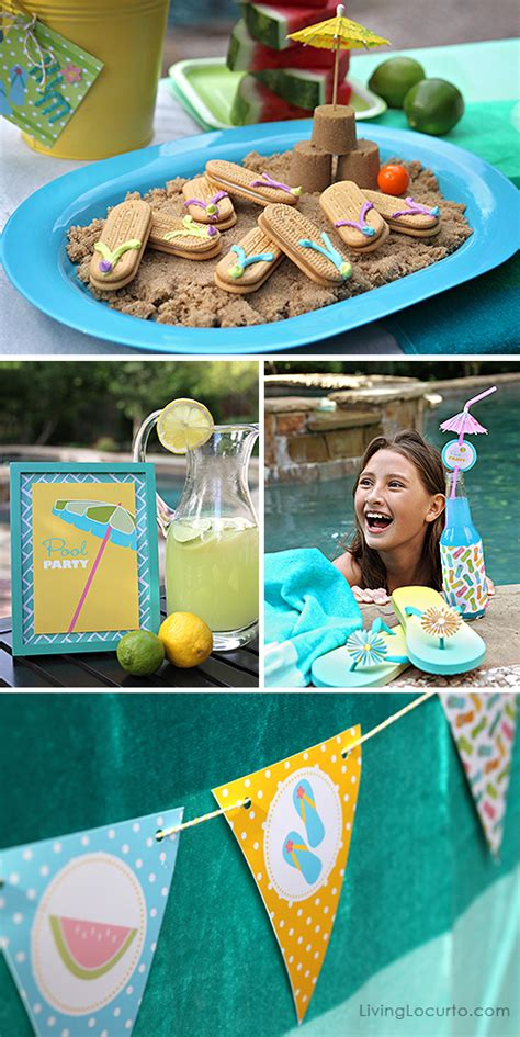 pool party ideas pool party ideas fun food printables