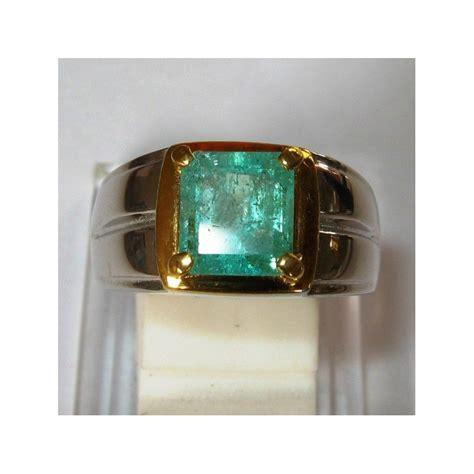 Zambrud Colombia Emerald jual cincin pria silver ring 9us zamrud 1 80 carat