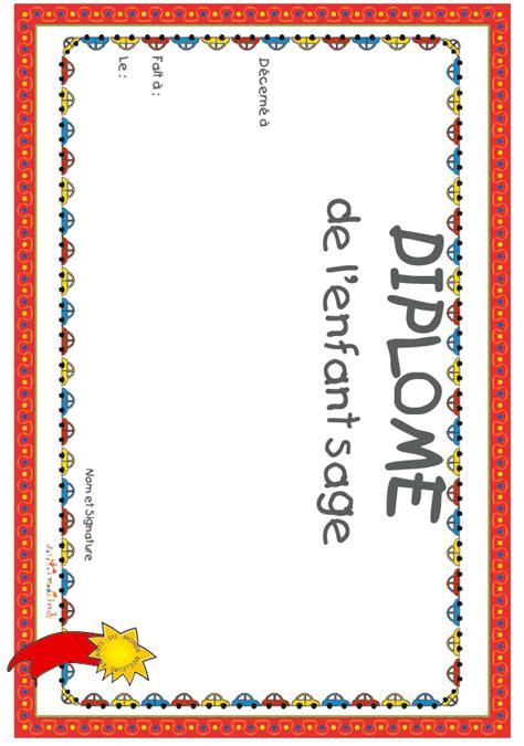 Imprimer Le Diplome Enfant Sage Voitures T 234 Te 224 Modeler