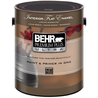 home depot paints interior behr behr premium plus ultra interior flat enamel paint