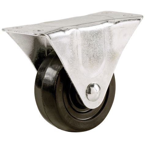 everbilt 1 1 2 in soft rubber wheel rigid caster with 40