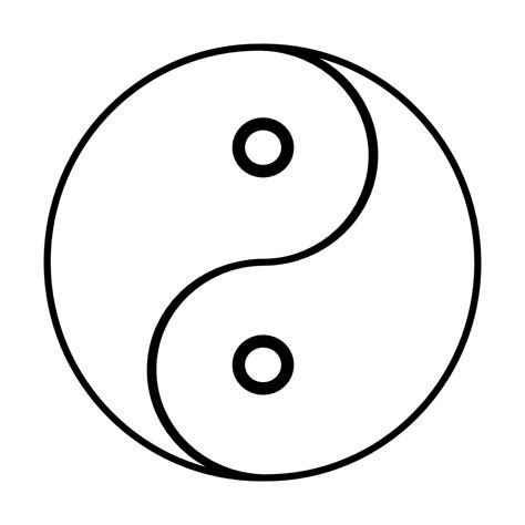 yin yang coloring pages free coloring pages of ying yang